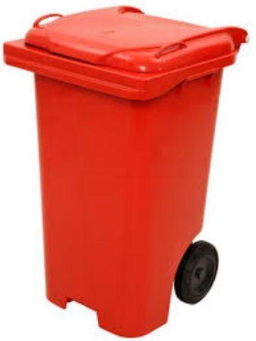 Carrinho Coletor de Lixo com Rodas sem Pedal de 120 Litros - Foto 6