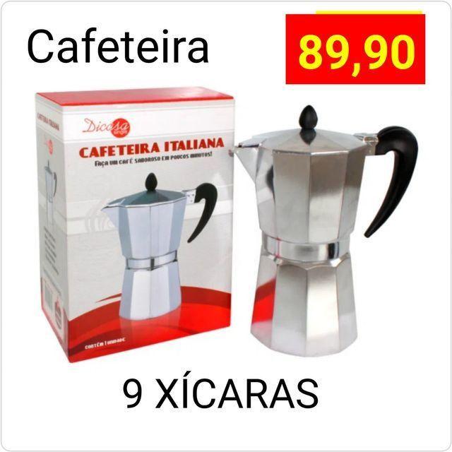 Cafeteira italiana 9 xícaras