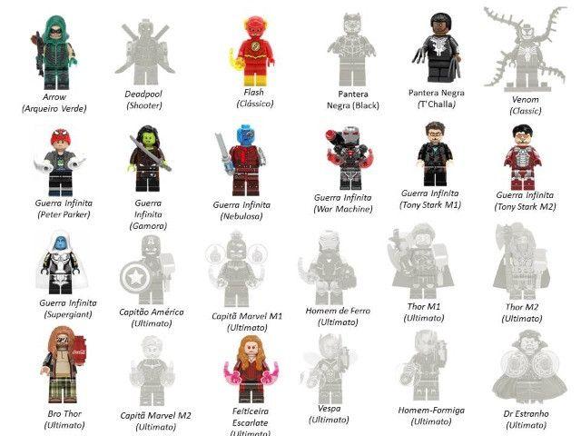 Minifigures (compatível com Lego) DC Marvel e Star Wars - Foto 2
