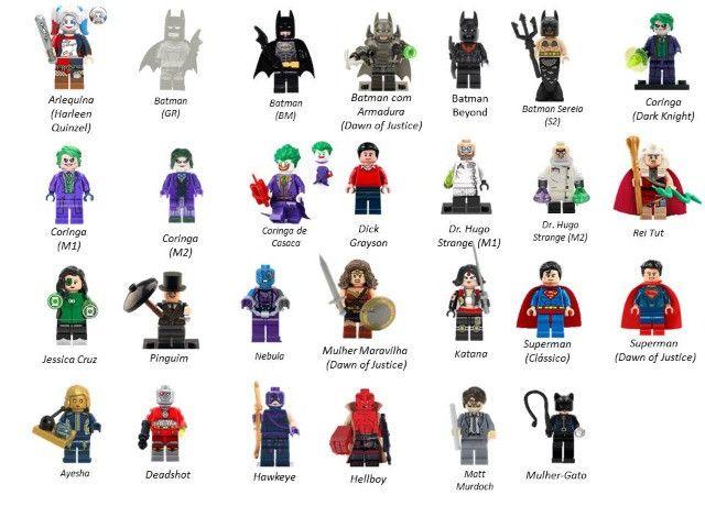 Minifigures (compatível com Lego) DC Marvel e Star Wars