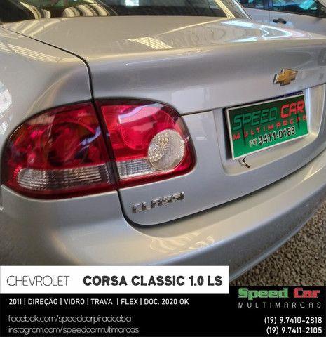 Classic 2011 Novissimo, direção vidro e trava - 1.0 ls flex - só vem - Foto 4