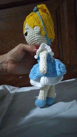 Boneca Cinderela amigurumi  - Foto 3