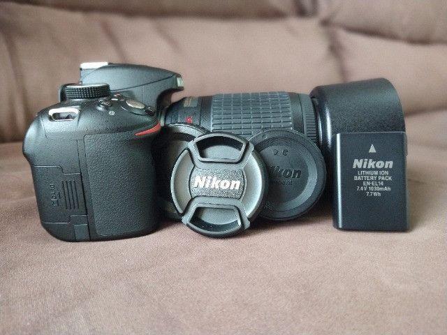 Câmera Nikon 3200 + Lente 55-200 - Foto 2