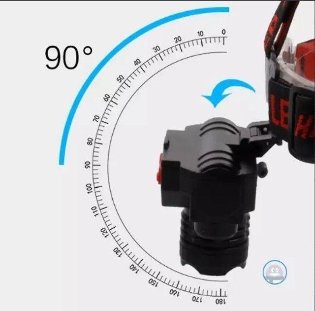 Entrega Grátis - Lanterna de cabeça LT-8516 - Foto 2