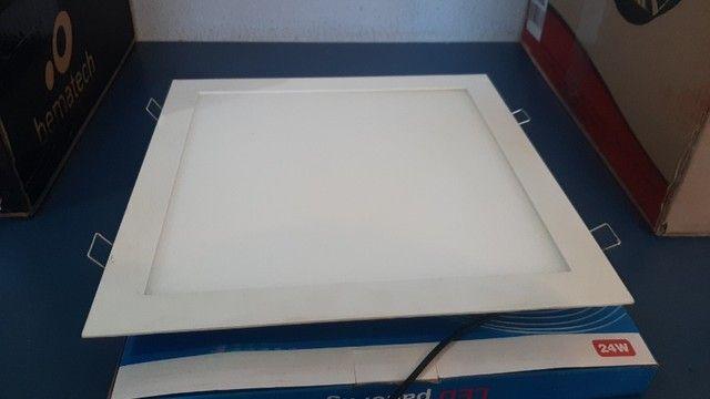 luminária de embutir LED quadrada 24w - Foto 6