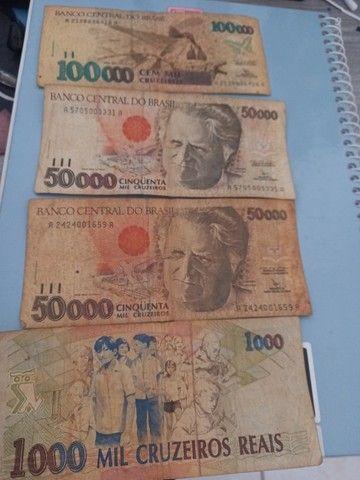 Vendo notas antigas valor 201 mil cruzeiros