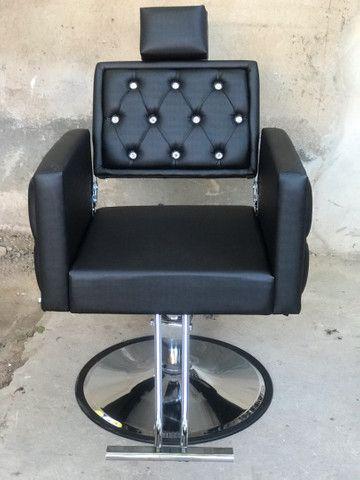 Cadeira Luxo Dubai Hidráulica Reclinável - Foto 5