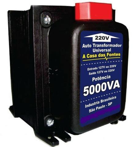 Transformador 5000va P/ Ar Condicionado Lavadora Secadora Esteira Geladeira AC/CARTÃO