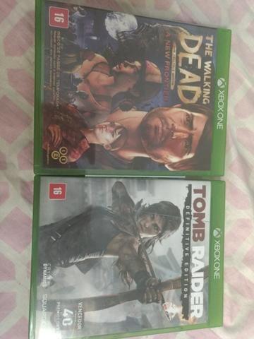 Jogos Xbox one: tomb raider e the walking dead