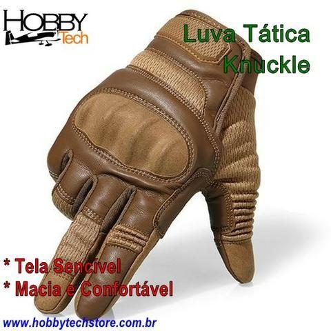 Luva Tática Knuckle Tela Sencível ou Sem Dedo - Novas