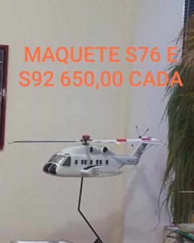 Maquetes Helicóptero e Avião