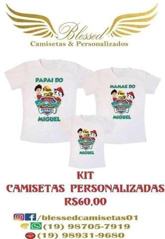 Kit de camisetas personalizadas - Artigos infantis - Jardim São ... e20cdb7953d