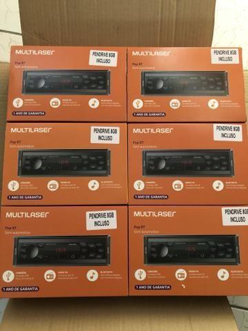 Multilaser POP BT Radio Bluetooth com pen drive 8GB Novo Garantia - Foto 2