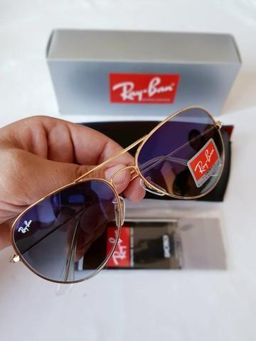 16f59e92c PROMOÇÃO oculos de sol 1 linha modelo ray ban aviador com proteção UV400