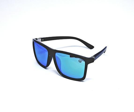 60cd1d0ad Óculos De Sol Masculino M.looy, Lente Espelhado Azul - Bijouterias ...