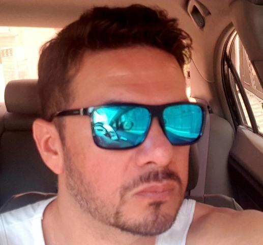 1573c794d Óculos De Sol Masculino M.looy, Lente Espelhado Azul - Bijouterias ...