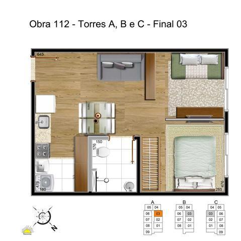 R$ 127.990 Realize seu sonho 2 quartos Samambaia Norte até 100% financiado - Foto 4