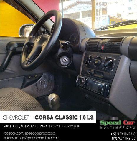 Classic 2011 Novissimo, direção vidro e trava - 1.0 ls flex - só vem - Foto 12
