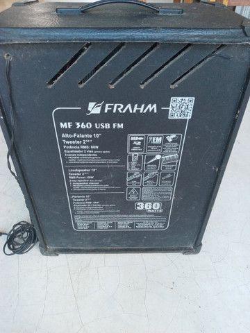 Caixa amplificada Frahn - funciona perfeitamente - Foto 2