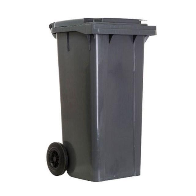Carrinho Coletor de Lixo com Rodas sem Pedal de 120 Litros - Foto 4
