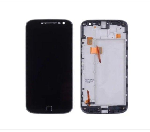 Tela Frontal Lcd Display Touch Moto G4 Plus Preta/ Branca