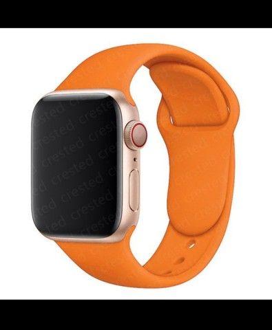 Pulseira de silicone macio Apple watch 42 mm - 44 mm - Foto 4