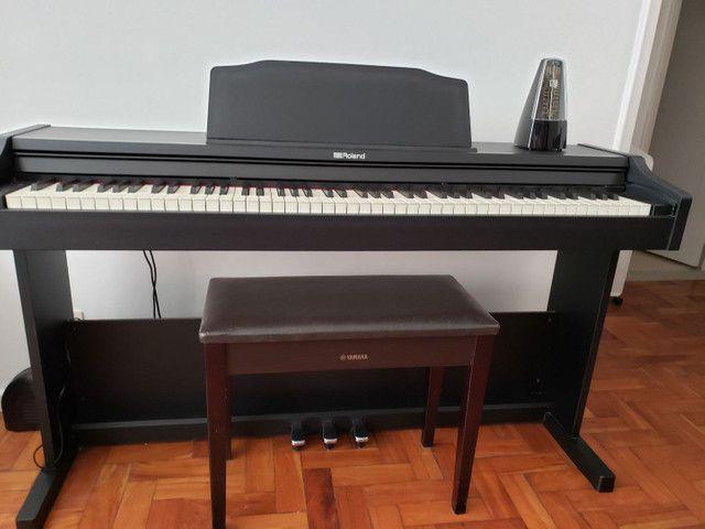 Piano Digital Roland Rp102  Preto 88 Teclas1 - Foto 6