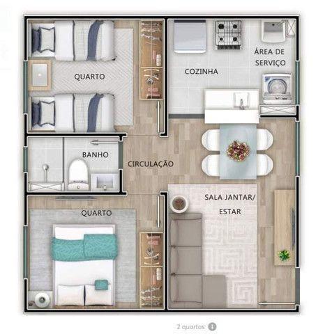 Mrv Chapada dos Pinheiros Apartamento 2 quartos Várzea Grande  - Foto 2