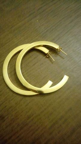 Brincos Banhado a Ouro Por: R$ 35,00 Reais - Foto 3