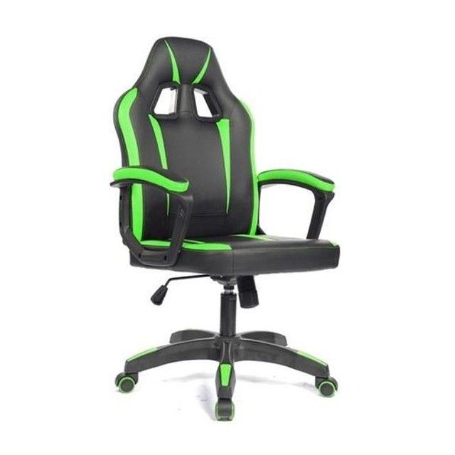 Cadeira Gamer - Nova - Verde - Azul  - Foto 2
