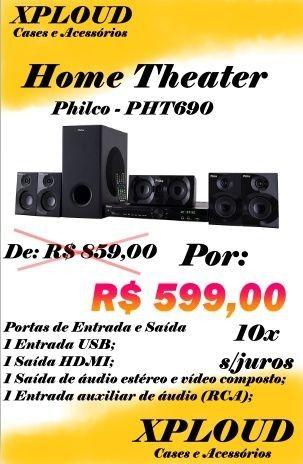 Home Theater Philco PHT690 5.1 Canais com DVD Player Entrada USB Karaokê ? 480W<br><br>