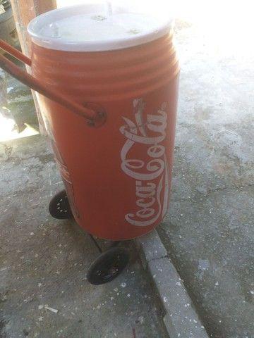 Cooler antigo De praia Coca cola anos 80 - Foto 3