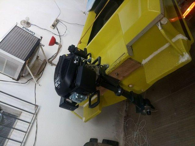 Lancha 12 pés com motor 6.5 HP - Foto 5