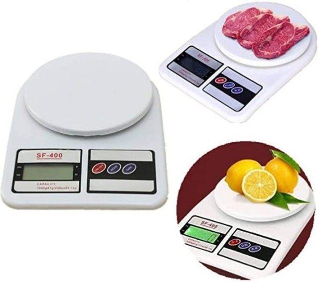 Balança Digital de Cozinha Capacidade Até 10 Quilos - Branca - Foto 5