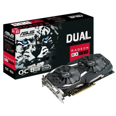 Placa de Vídeo Asus Radeon Rx 580 oc Edition 8GB gddr5 256Bits