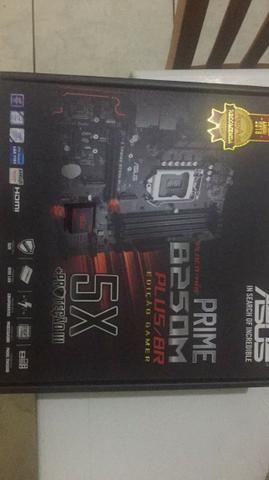 Placa mãe ASUS /Intel LGA 1151 prime B250M Edição Gamer