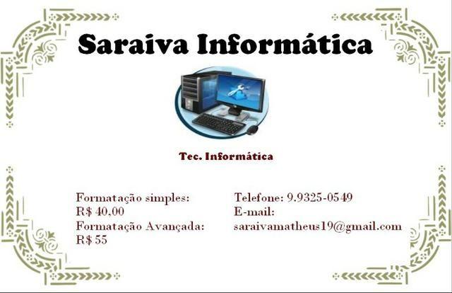 Formatação e Manutenção de PC e Notbook