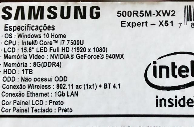 Notebook Samsung X51 i 7