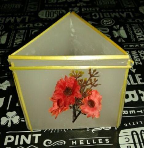 Luminária de parafina decorada