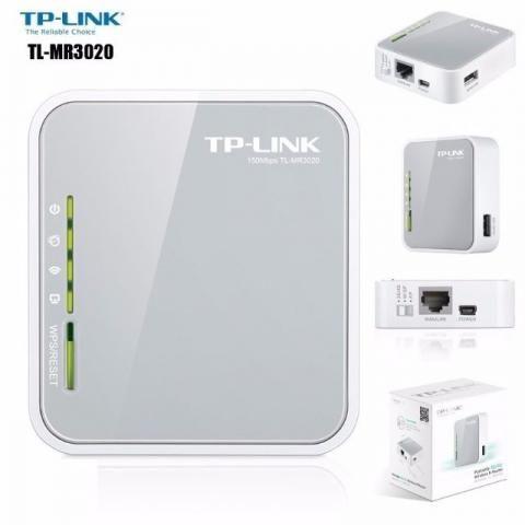 Roteador Wifi Portatil Tp Link 300mbps Para Modens 3G 4G MR3020