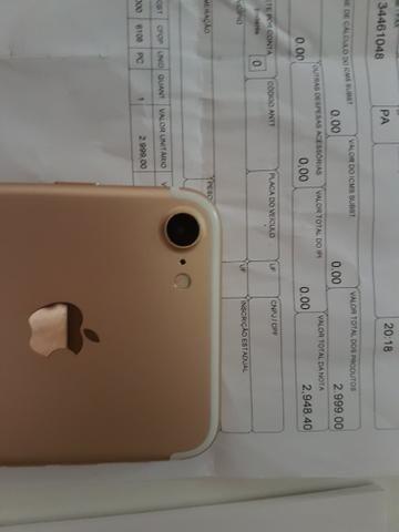 Iphone 7 32G Dourado com nota