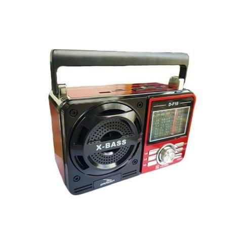 Caixa de Som Portátil D-F10 Grasep Pen Drive Mp3 Radio Am Fm Sw Recarregável Amplificada - Foto 4