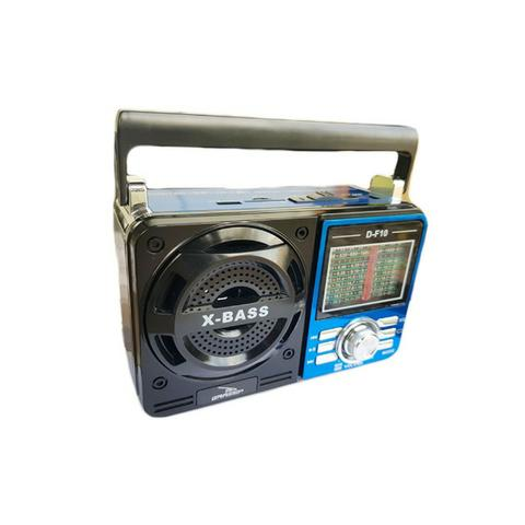 Caixa de Som Portátil D-F10 Grasep Pen Drive Mp3 Radio Am Fm Sw Recarregável Amplificada - Foto 3