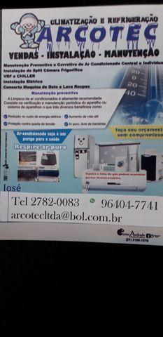 Câmara frigorífica e ar condicionado
