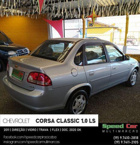 Classic 2011 Novissimo, direção vidro e trava - 1.0 ls flex - só vem - Foto 2