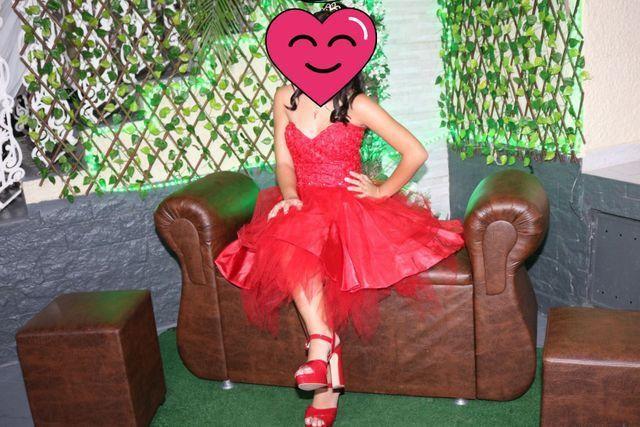 Vestido de 15 anos Curto Vermelho