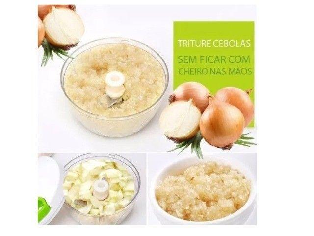 Triturador Alho, Cebola Alimentos Manual Cozinha - Foto 4