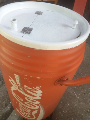 Cooler antigo De praia Coca cola anos 80 - Foto 5