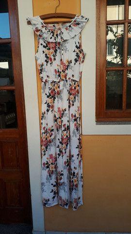 Vestido longo florido MUITO BARATO tam. M  - Foto 5