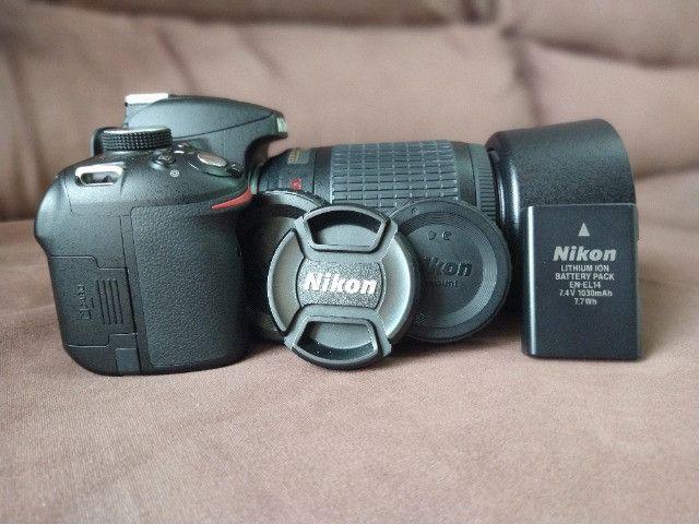 Câmera Nikon 3200 + Lente 55-200 - Foto 5